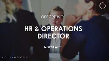 HR & OPERATIONS DIRECTOR