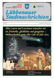 Lübbenauer Stadtnachrichten Lübbenauer Stadtnachrichten