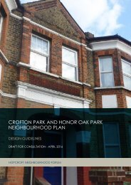 CROFTON PARK AND HONOR OAK PARK NEIGHBOURHOOD PLAN