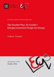 The Fouchet Plan De Gaulle's Intergovernmental Design for Europe