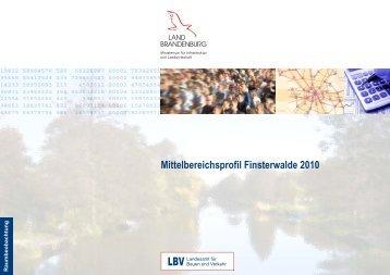 Mittelbereichsprofil Finsterwalde 2010 - LBV - Brandenburg.de