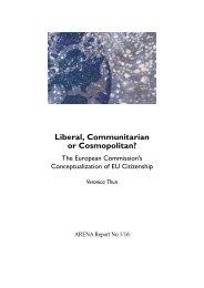 Liberal Communitarian or Cosmopolitan?