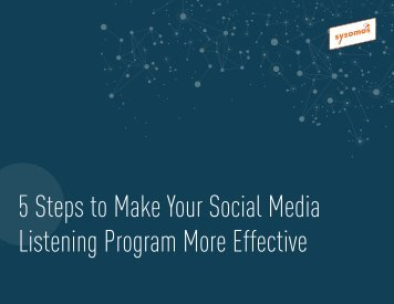 5 Steps to Make Your Social Media Listening Program More Effective