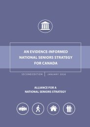 NATIONAL SENIORS STRATEGY FOR CANADA
