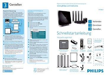 Philips Home Cinéma 5 enceintes - Guide de mise en route - DEU