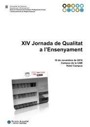XIV Jornada de Qualitat a l'Ensenyament