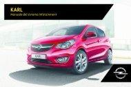 Opel KARL Infotainment Manual MY 17.0 - KARL Infotainment Manual MY 17.0 manuale