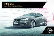 Opel Nuova Cascada Infotainment Manual MY 17.0 - Nuova Cascada Infotainment Manual MY 17.0 manuale