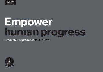 Empower human progress
