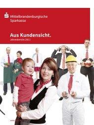 Jahresbericht 2011 - Mittelbrandenburgische Sparkasse in Potsdam
