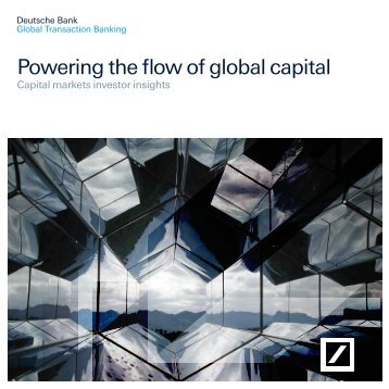 Powering the flow of global capital