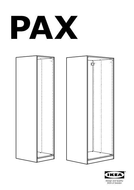 Istruzioni Montaggio Armadio Ikea Pax Ante Scorrevoli.Ikea Pax Guardaroba S09029240 Istruzioni Montaggio Pdf