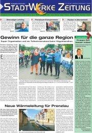 Gewinn für die ganze Region - Stadtwerke Prenzlau GmbH