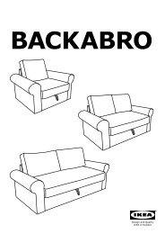 Ikea BACKABRO / MARIEBY divano letto a 2 posti - S59033536 - Istruzioni di montaggio