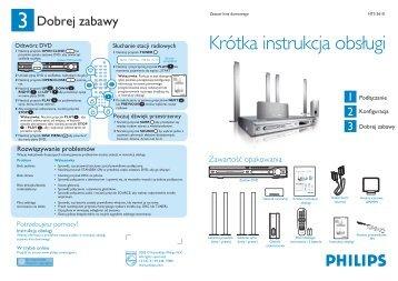 Philips Système Home Cinéma DVD - Guide de mise en route - POL
