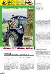 Neue BUL-Broschüre - Schweizerischer Verband für Landtechnik