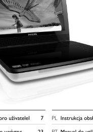 Philips Lecteur de DVD portable - Mode d'emploi - RUS