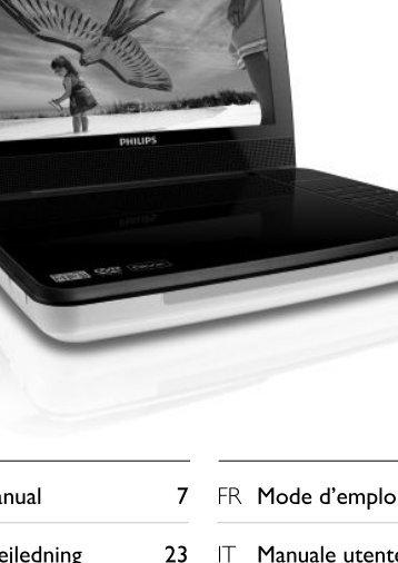 Philips Lecteur de DVD portable - Mode d'emploi - DEU