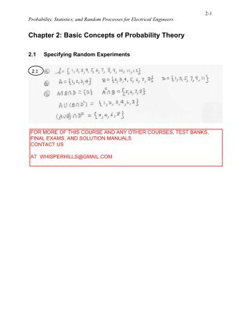 Solution Manual For Statistics For Engineers And Scientists 4th