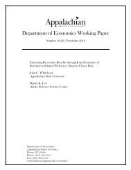 Department of Economics Working Paper