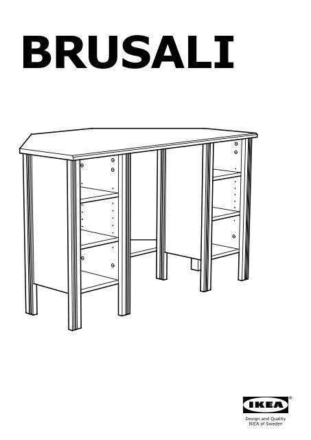 Ikea Brusali Scrivania Angolare 10304992 Istruzioni Di Montaggio