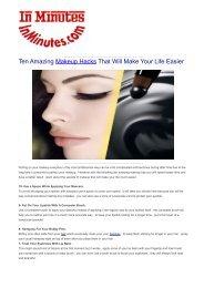 Ten Amazing Makeup Hacks That Will Make Your Life Easier
