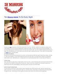 Ten Beauty Habits To Do Every Night