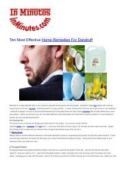 Ten Most Effective Home Remedies For Dandruff