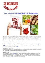 Ten Most Effective Home Remedies To Boost Metabolism