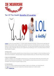 Ten Of The Health Benefits Of Laughter