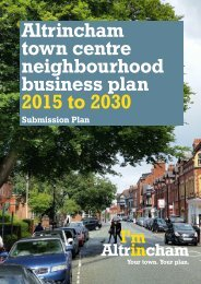 Altrincham town centre neighbourhood business plan 2015 to 2030