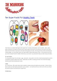 Ten Super Foods For Healthy Teeth