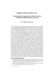 Sogdier in China um 600 n. Chr. - Universität Hamburg