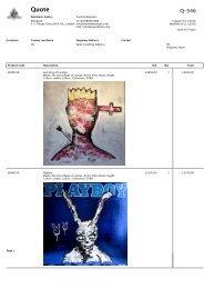 Elmo Hood Down the Rabbit Hole pricelist for catalogue