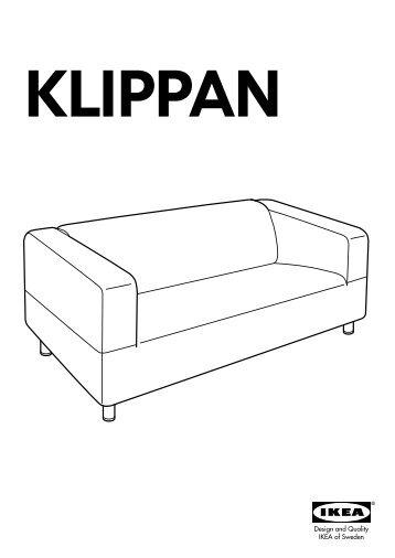 Ikea KLIPPAN Divano A 2 Posti   S79052618   Istruzioni Di Montaggio