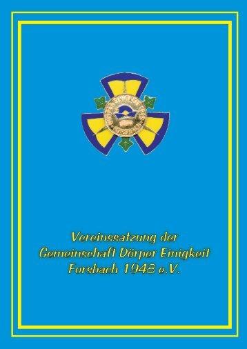 Vereinssatzung 1998