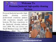Maid service in Fremont, CA|Fremont janitorial