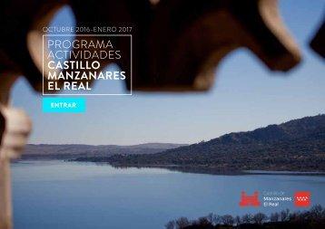 PROGRAMA ACTIVIDADES CASTILLO MANZANARES EL REAL
