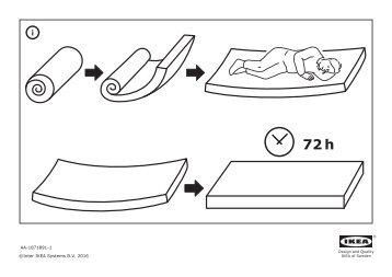 Ikea BEDDINGE LÖVÅS divano letto a 3 posti - S09089413 - Manuali