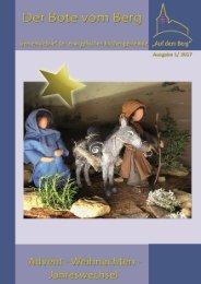 Der Bote vom Berg - Advent, Weihnachten & Jahreswechsel
