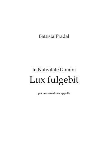 Lux fulgebit