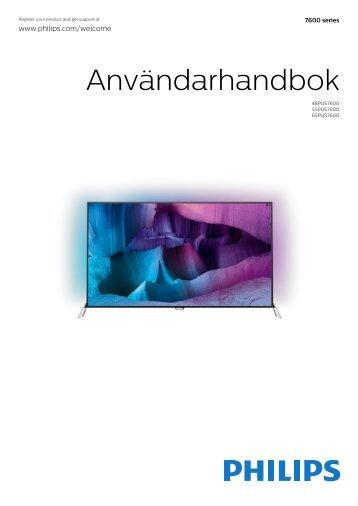 Philips 7600 series Téléviseur UHD 4K ultra-plat avec Android™ - Mode d'emploi - SWE