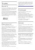 Philips 7600 series Téléviseur UHD 4K ultra-plat avec Android™ - Mode d'emploi - SWE - Page 4