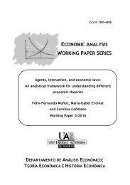 ECONOMIC ANALYSIS WORKING PAPER SERIES