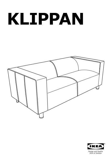 Ikea KLIPPAN Divano A 2 Posti   80299237   Istruzioni Di Montaggio