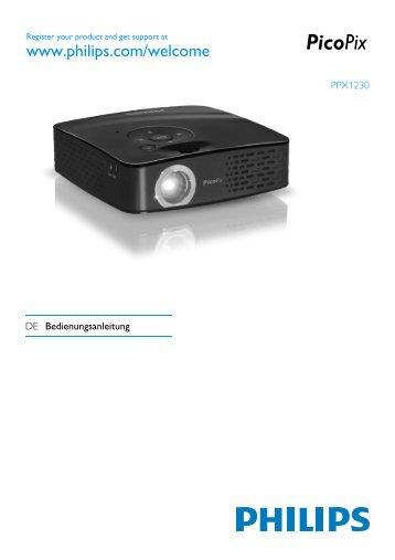 Philips PicoPix Projecteur de poche - Mode d'emploi - DEU