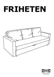 Ikea FRIHETEN divano letto a 3 posti - 60301463 - Istruzioni di montaggio