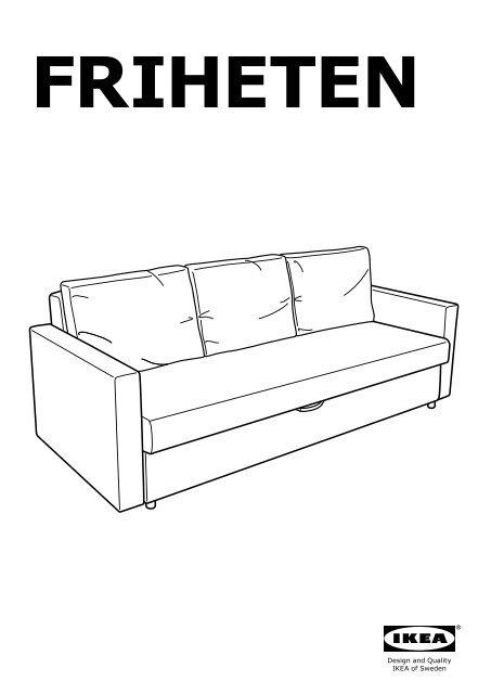 Divano Letto Ikea Friheten.Ikea Friheten Divano Letto A 3 Posti 60301463 Istruzioni Di