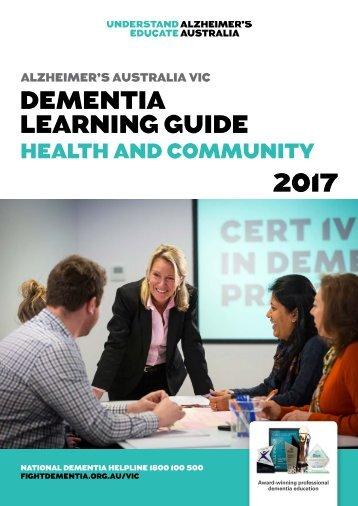 Alzheimer's Australia Vic | Dementia Learning Guide 2017