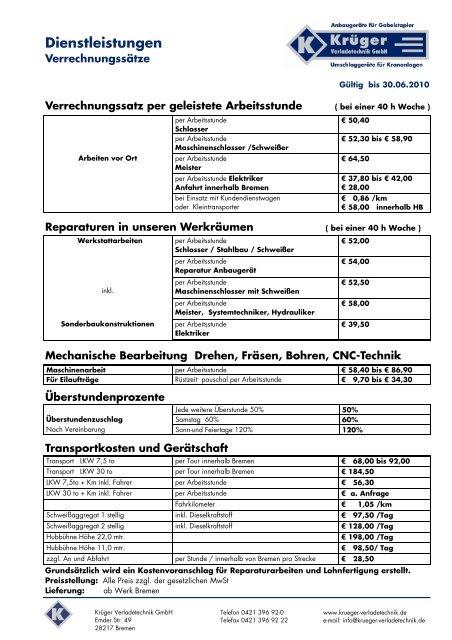 Kopfseite 1 - rund um die Verladetechnik von der Krüger